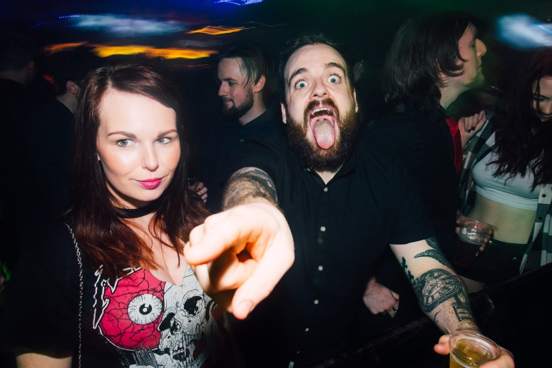 Glasgow Nightlife over Hogmanay in Cathouse Rock Club with Jesse Leach of Killswitch Engage by Party Photographer Lee Jones