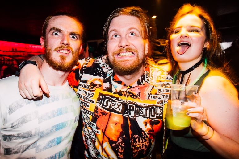 Glasgow nightlife in Cathouse rock club by party photographer Lee Jones