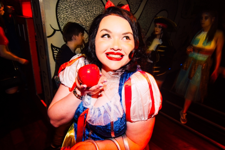 glasgow nightlife in cathouse rock club for disney after dark fancy dress night by party photographer lee jones